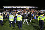 Pitch invasion during the The FA Cup match between Sutton United and Arsenal at Gander Green Lane, Sutton, United Kingdom on 20 February 2017. Photo by Phil Duncan.