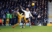 Adam Reach challenges during the Sky Bet Championship match between Fulham and Preston North End at Craven Cottage, London, England on 28 November 2015. Photo by Pete Burns.