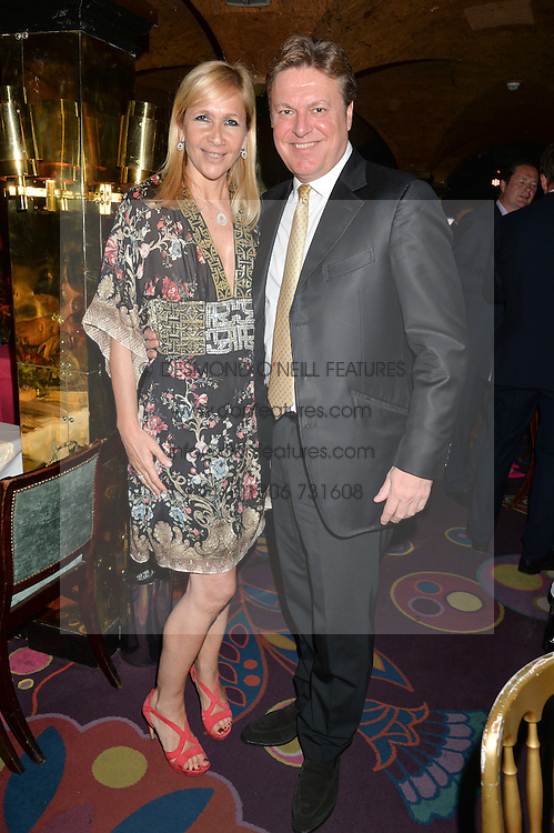 TANIA BRYER and ROD BARKER at the Bedales Art & Design Party hosted by David Linley at Annabel's, 44 Berkeley Square, London on 30th June 2015.