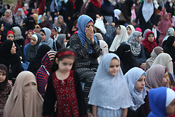 September 1, 2017 - Gaza, gaza strip, Palestine - People Presence prayers for the Muslim holiday of Eid Al-Adha in Gaza City on September 1, 2017. (Credit Image: © Majdi Fathi/NurPhoto via ZUMA Press)