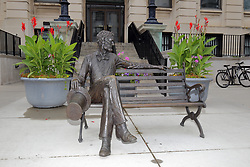 McLean County Illinois monuments and landmarks<br /> <br /> The Lincoln Bench by sculptor Rick Harney in front of the south entrance to the McLean County Museum of History