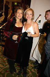 Left to right, PENNY SMITH and MARIELLA FROSTRUP at the Costa Book Awards 2006 held at The Grosvenor House Hotel, Park Lane, London W1 on 7th February 2007.<br />