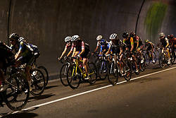 The peloton speed through a long tunnel during Stage 8 of 2019 Giro Rosa Iccrea, a 133.3 km road race from Vittorio Veneto to Maniago, Italy on July 12, 2019. Photo by Sean Robinson/velofocus.com