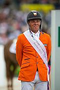European Champion Jeroen Dubbeldam and SFN Zenith N.O.P.<br /> FEI European Championships Aachen 2015<br /> © DigiShots