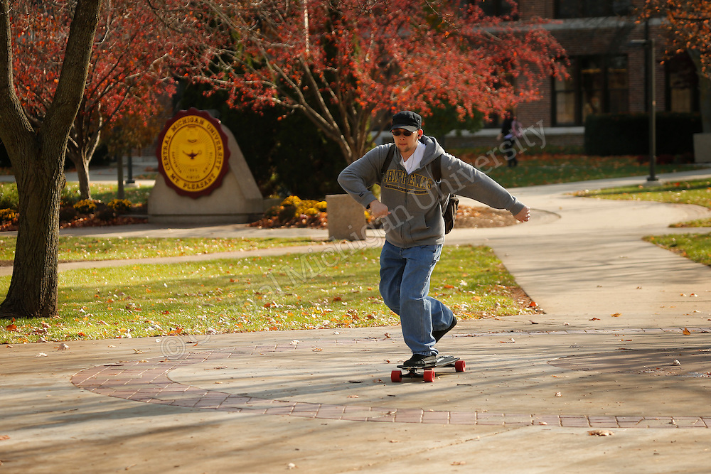 Campus fall scenics on the north end. Photos by Steve Jessmore/Central Michigan University