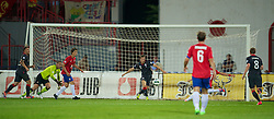 NOVI SAD, SERBIA - Tuesday, September 11, 2012: A mix-up in the Wales defence leads to Serbia's second goal during the 2014 FIFA World Cup Brazil Qualifying Group A match at the Karadorde Stadium. (Pic by David Rawcliffe/Propaganda)