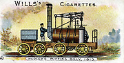 Puffing Billy', William Hedley's railway locomotive patented 1813. It began work in that year and continued in use until 1872. Chromolithograph  1901.