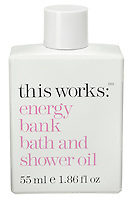 this works: energy bank bath and shower oil