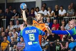 Luc Stein of Nederland during friendly handball match between Slovenia and Nederland, on October 25, 2019 in Športna dvorana Hardek, Ormož, Slovenia. Photo by Blaž Weindorfer / Sportida