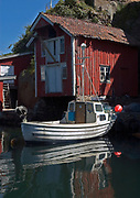 Old and traditional boathouse in the villate of Rasvaag (Rasvåg) on the island of hidra in south-western Norway.