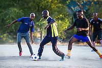Field Rangers Playing Soccer, South African Wildlife College, Limpopo Province, South Africa