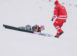 16.02.2020, Kulm, Bad Mitterndorf, AUT, FIS Ski Flug Weltcup, Kulm, Herren, im Bild Sturz von Roman Koudelka (CZE) // Roman Koudelka of Czech Republic crashed during the men's FIS Ski Flying World Cup at the Kulm in Bad Mitterndorf, Austria on 2020/02/16. EXPA Pictures © 2020, PhotoCredit: EXPA/ JFK