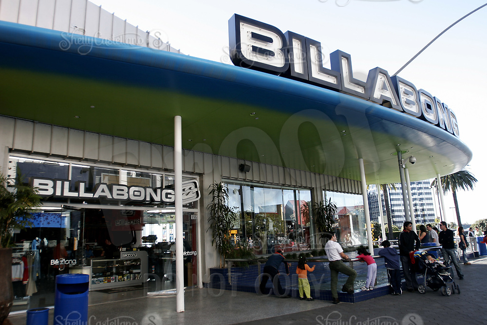 Jan 15, 2005; Hollywood, CA, USA; Billabong Retail Store on the end of City Walk outside Universal Studios Theme Park in Hollywood.  Tourist location for thousands of movie and roller coaster fans traveling and visiting Southern California.  Theme Park includes roller coaster rides, hollywood movie sets, theme shows and tram tour around sound stages on the property.  Mandatory Credit: Photo by Shelly Castellano/ZUMA Press.