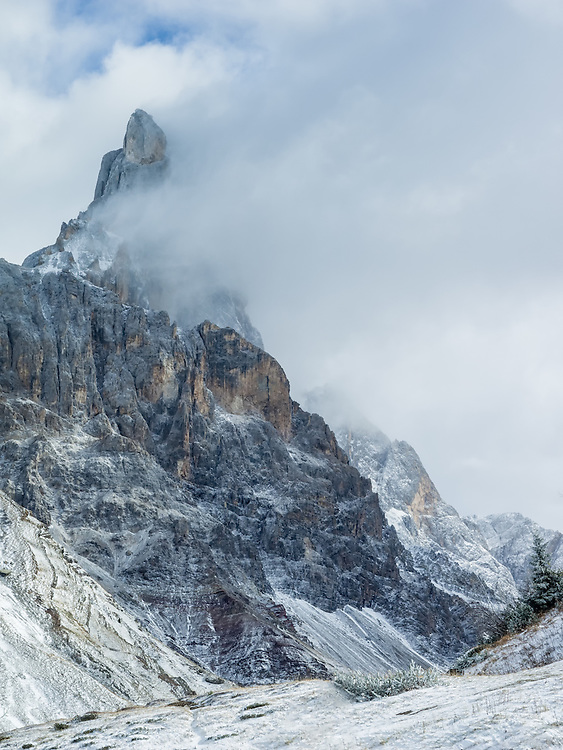 Cimon della Pala, sometimes called Cimone and The Matterhorn of the Dolomites (il Cervino delle Dolomiti) is the best-known peak of the Pale di San Martino group, in the Dolomites, northern Italy. Its slender point, which can be seen from the Rolle Pass, dominates the landscape.