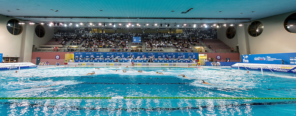 Bianchi Pool<br /> FINA Men's Water Polo Olympic Games Qualifications Tournament 2016<br /> Italy ITA (White) Vs Germany GER (Blue)<br /> Trieste, Italy - Swimming Pool Bruno Bianchi<br /> Day 5  07-04-2016<br /> Photo G.Scala/Insidefoto/Deepbluemedia