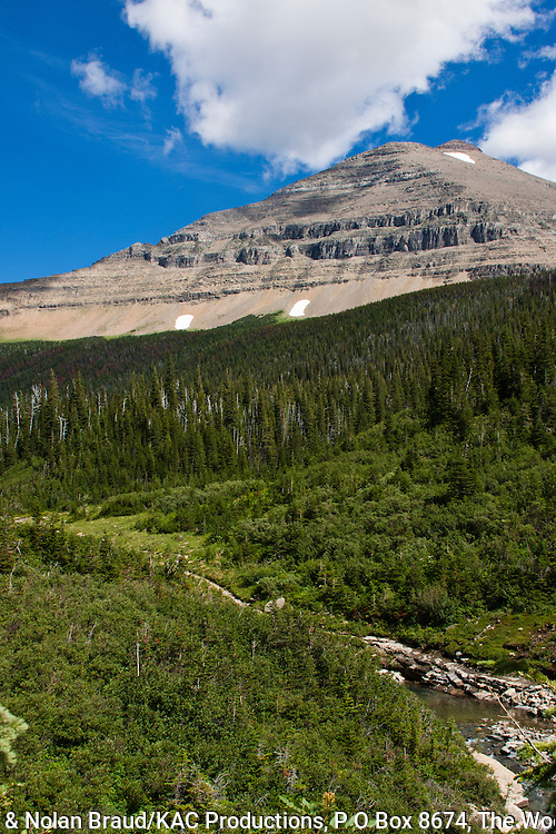 Siyeh Mountain in Glacier National Park in Montana. This is the fifth tallest mountain in Glacier NP, and one of six over 10,000 ft in the park.