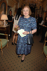 LADY DE ZULUETA at a reception to celebrate the launch of Prince Dimitri of Yugoslavia's one-of-a-kind jeweleery collection held at Partridge Fine Art, 144-146 New Bond Street, London on 11th June 2008.<br />