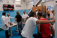 Anzio, Italy 25/06/2008: asta del pesce nella cooperativa del porto