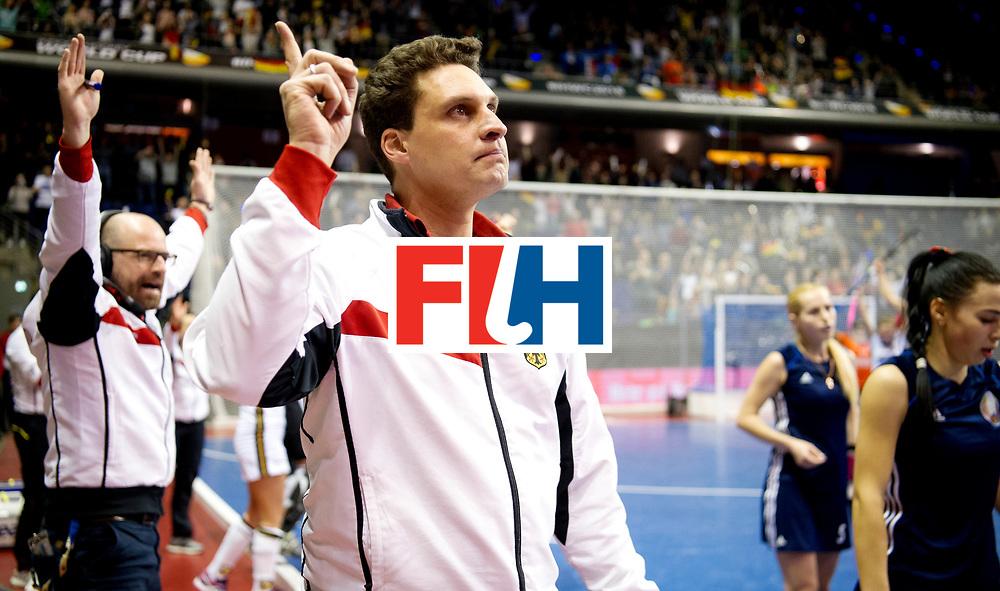 BERLIN - Indoor Hockey World Cup<br /> Semi-final: Belarus - Germany<br /> foto: BOUCHOUCHI Akim.<br /> WORLDSPORTPICS COPYRIGHT FRANK UIJLENBROEK