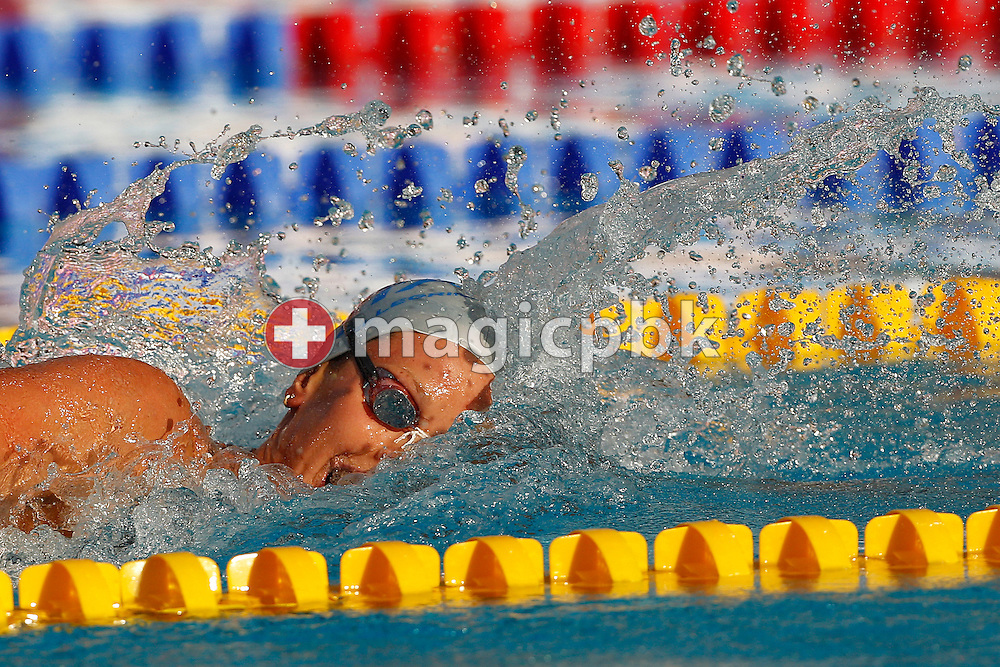 Federica PELLEGRINI of Italy competes in the women's 200m Freestyle Final at the European Swimming Championship at the Hajos Alfred Swimming complex in Budapest, Hungary, Saturday, Aug. 14, 2010. (Photo by Patrick B. Kraemer / MAGICPBK)