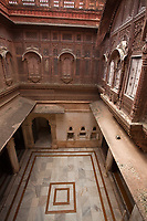 the palace inside Meherangarh Fort in the beautiful city of jodhpur in rajasthan state in india