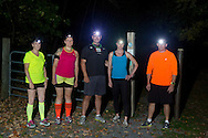 Goshen, New York - Night run on the Heritage Trail on Oct. 2, 2014.