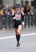 Yuka Ando (JPN) places 13th in the women's race in 2:26:47  at the 39th London Marathon in London, Sunday, April 28, 2019. (Jiro Mochizuki/Image of Sport)