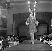 13/11/1967<br /> 11/13/1967<br /> 13 November 1967<br /> Irish Leather Federation, Leather Fashions at the Gresham Hotel, Dublin.<br /> Silver outfit by John Homac Ltd ofLondon.