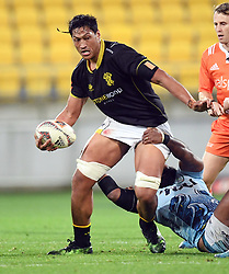 Wellington's Sam Lousi against Northland in the Mitre 10 Rugby match at Westpac Stadium, Wellington, New Zealand, Thursday, October 12 2017. Credit:SNPA / Ross Setford  **NO ARCHIVING**