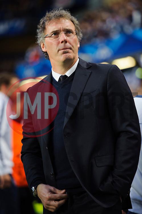 PSG Manager Laurent Blanc (FRA) looks on - Photo mandatory by-line: Rogan Thomson/JMP - 07966 386802 - 08/04/2014 - SPORT - FOOTBALL - Stamford Bridge, London - Chelsea v Paris Saint-Germain - UEFA Champions League Quarter-Final Second Leg.