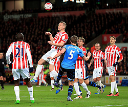 Ryan Shawcross of Stoke City clears the ball from a corner - Mandatory by-line: Matt McNulty/JMP - 18/04/2016 - FOOTBALL - Britannia Stadium - Stoke, England - Stoke City v Tottenham Hotspur - Barclays Premier League
