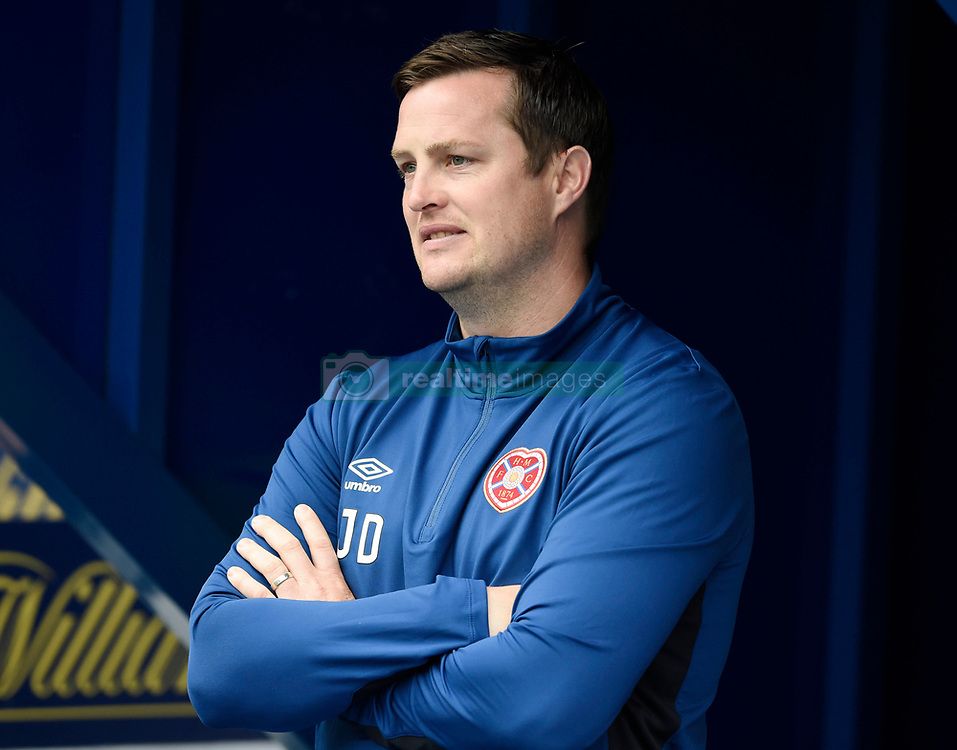 "Hearts interim manager Jon Daly looks out from the tunnel entrance before the Scottish Premiership match at Ibrox, Glasgow. PRESS ASSOCIATION Photo. Picture date: Saturday August 19, 2017. See PA story SOCCER Rangers. Photo credit should read: Ian Rutherford/PA Wire. RESTRICTIONS: EDITORIAL USE ONLY No use with unauthorised audio, video, data, fixture lists, club/league logos or ""live"" services. Online in-match use limited to 75 images, no video emulation. No use in betting, games or single club/league/player publications."