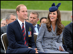 The Duke and Duchess of Cambridge attend Anzac day in Canberra, Australia, on the final day of their 19 day tour of New Zealand and Australia, Friday, 25th April 2014. Picture by Andrew Parsons / i-Images