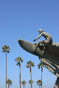 Edmund Shumpert Surfer Statue in Huntington Beach California