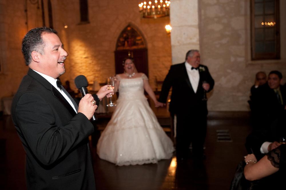 Frank Garcia and Jennifer Gonzales wedding Saturday, January 30, 2009 at Southwest School of Art and Craft..Photo © Bahram Mark Sobhani