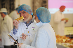 Scottish Bakery Awards_Dunfermline Blcc_17-04-2019<br /> <br /> Sniffing a sausage roll<br /> <br /> (c) David Wardle | Edinburgh Elite media