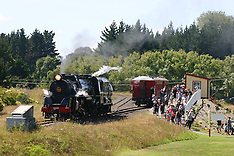 Auckland-Holiday makers travel behind vintage J class locomotive at Glenbrook