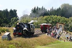 Auckland-Holiday makers travel behind vintage J class locomotive at Glenbrook