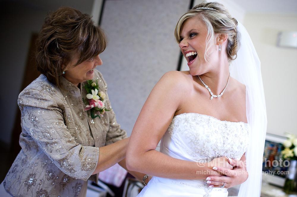 Wedding photography of Nicole Henseleit and Matt Geary wedding in Kokomo, Indiana.<br /> By Michael Hickey, wedding photographer