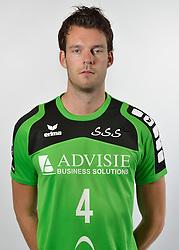 19-10-2015 NED: Teampresentatie Advisie-SSS, Barneveld<br /> Selectie 2015-2016 SSS Barneveld / Stefan Taanman #4 of SSS