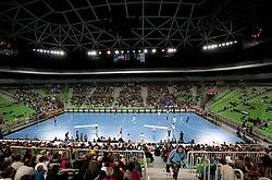 Arena Stozice during handball match between RK Krim Mercator (SLO) and Gyori Audi Eto KC (HUN) in 3rd Round of Women's Champions league, on October 23, 2010 at SRC Stozice, Ljubljana, Slovenia. Gyori defeated Krim 34 - 30. (Photo By Vid Ponikvar / Sportida.com)
