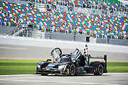January 26-29, 2017: Rolex Daytona 24. 10 Wayne Taylor Racing, DPi, Ricky Taylor, Jordan Taylor, Max Angelelli, Jeff Gordon celebrates winning the 55th running of the Rolex Daytona 24