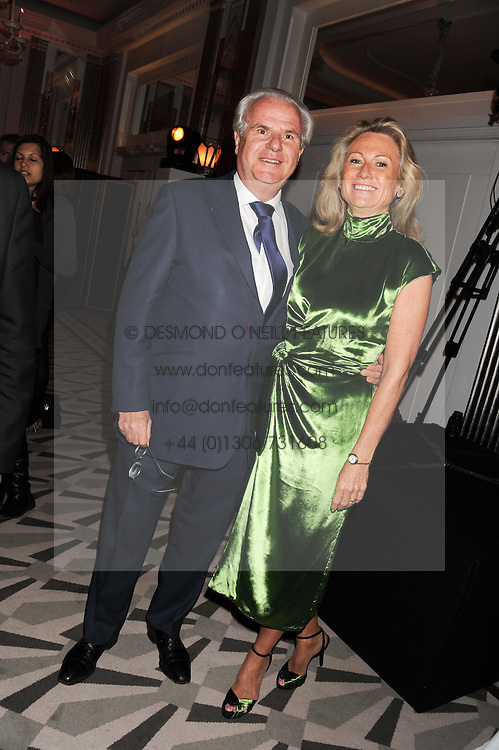 LORD & LADY MYNERS at the annual Veuve Clicquot Business Woman of the Year Award this year celebrating it's 40th year, held at Claridge's, Brook Street, London on 18th April 2012.