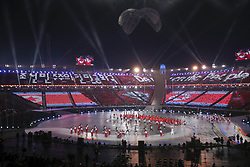 March 9, 2018 - Pyeongchang, GANGWON, SOUTH KOREA - March 09, 2018-Pyeongchang, South Korea-Members of Team North Korea enter the stadium during the opening ceremony of the PyeongChang 2018 Paralympic Games at the PyeongChang Olympic Stadium in Pyeongchang, South Korea. (Credit Image: © Gmc via ZUMA Wire)