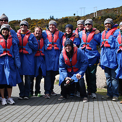 TAUPO, NEW ZEALAND - SEPTEMBER 20, The springbok players during the Springboks Jet Boat Trip at Hukafalls on September 20, 2011 in Taupo, New Zealand<br /> Photo by Steve Haag / Gallo Images