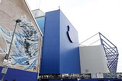 A graffiti image of Graeme Sharp on the wall of a house outside Goodison Park  - Mandatory by-line: Matt McNulty/JMP - 06/08/2017 - FOOTBALL - Goodison Park - Liverpool, England - Everton v Sevilla - Pre-season friendly