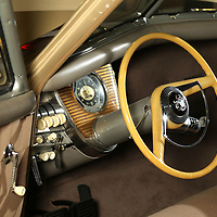 The interior of the 1948 Tucker on diplay at the Tupelo Automobile Museum.