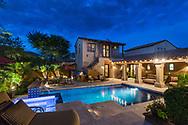 DC Ranch, Scottsdale, Arizona, AZ twilight pool photography