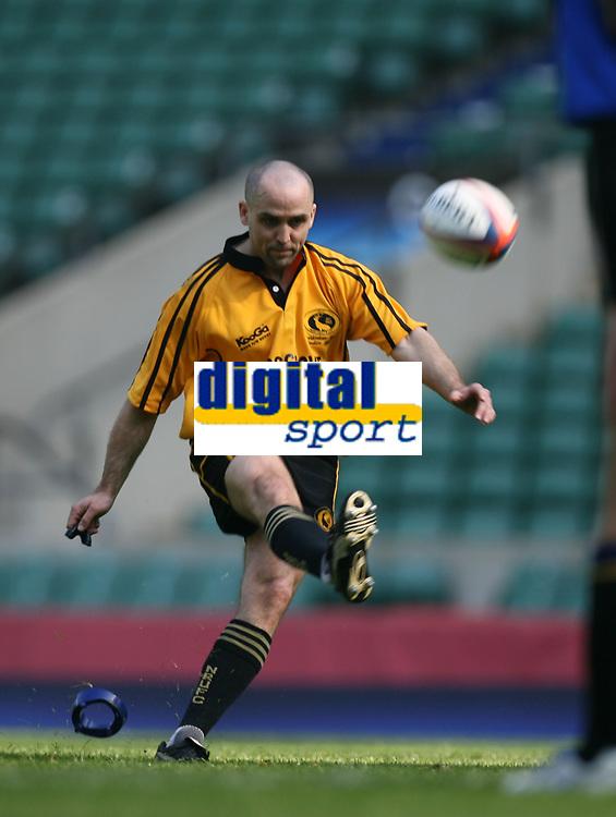 Photo: Jonathan Butler.<br /> <br /> Northwich v Bradford Salem. EDF Energy Senior Vase Final. 15/04/2007. Northwichs Gary Bell converts a penalty try