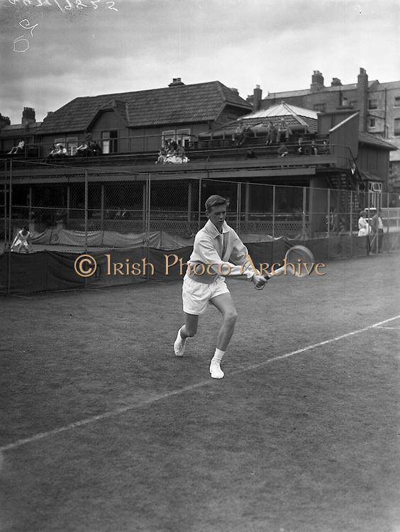 Tennis at Fitzwilliam Tennis Club.28/08/57